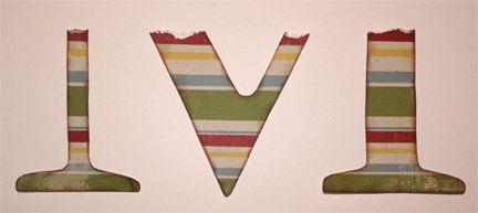 wooden wall letter