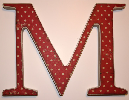 baby wooden letter